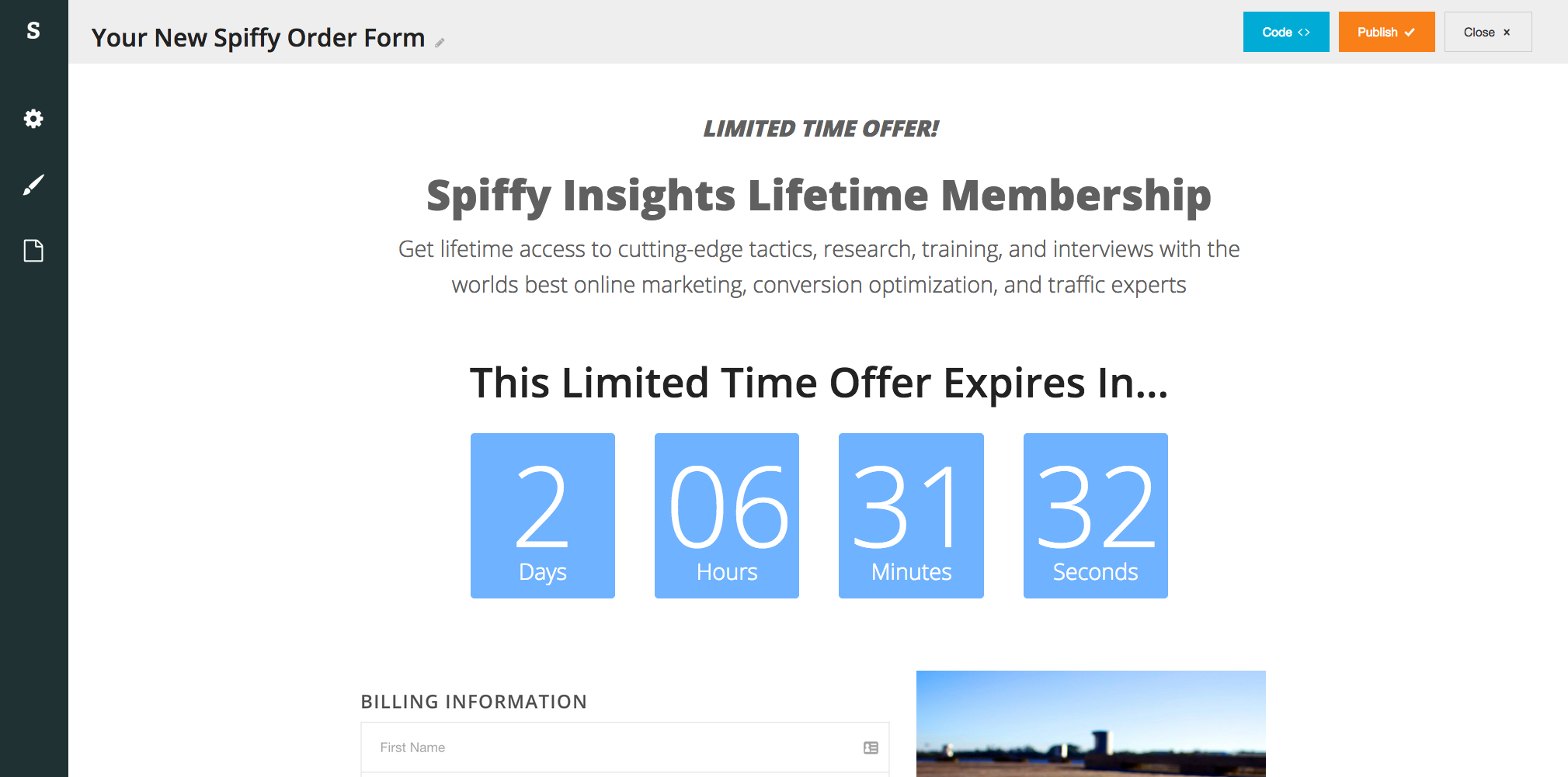 Spiffy-Builder-Infusionsoft-Countdown-Timer