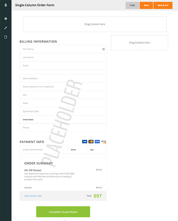 Spiffy-Builder-Single-Column-Order-Form-Infusionsoft