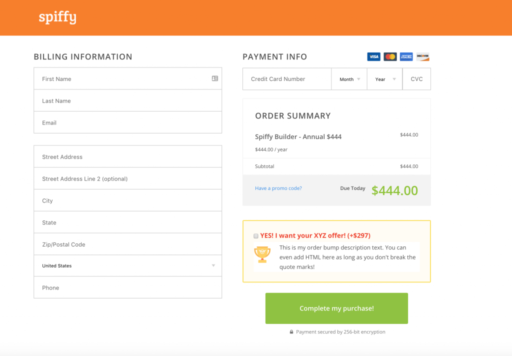 Spiffy-Infusionsoft-offer-bump-example